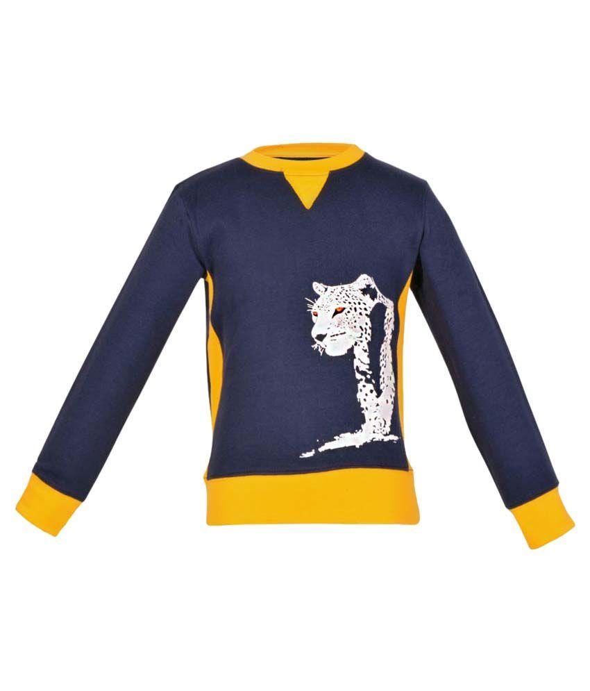 Gkidz Navy Boys Full Sleeve Sweatshirt