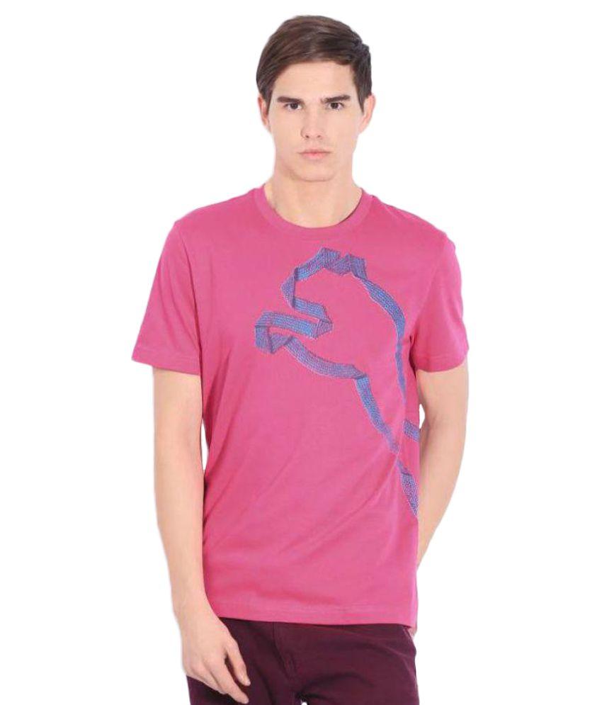 Puma Pink Round T-Shirt