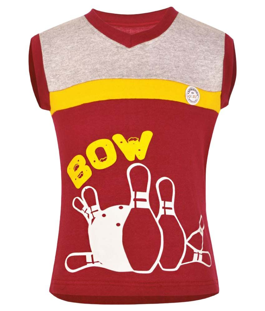 Gkidz Maroon Sleeveless Sweatshirt
