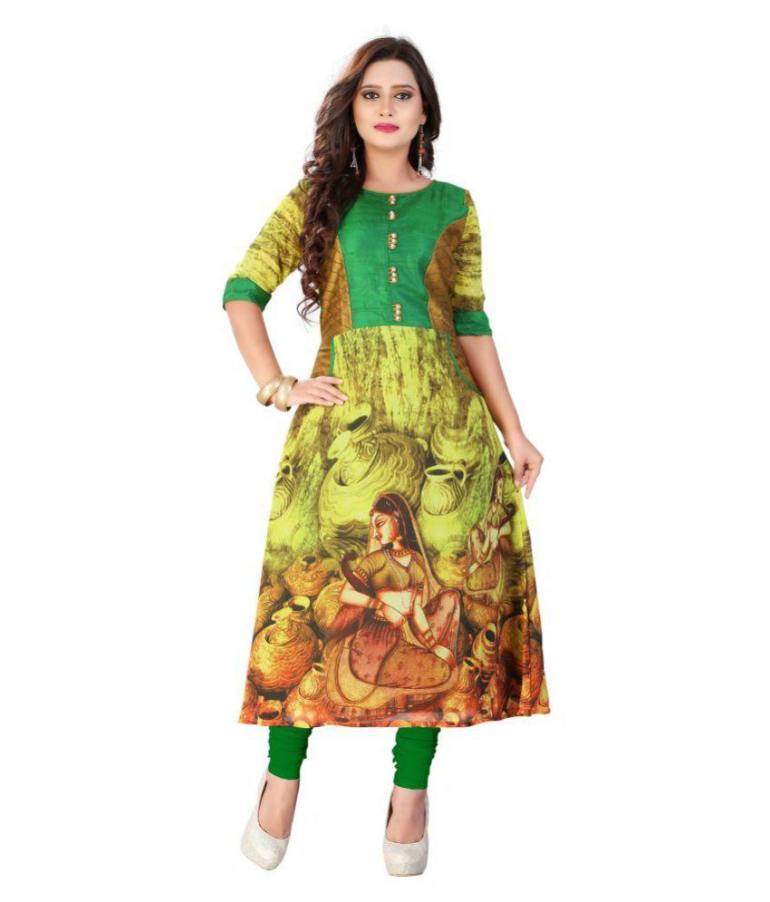 Thankar Multicoloured Georgette A-line Kurti