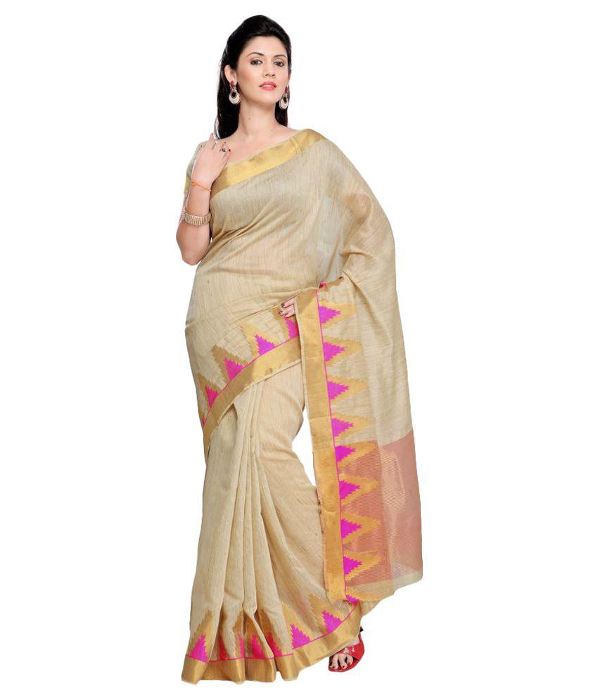 Sumaaya Beige Art Silk Saree