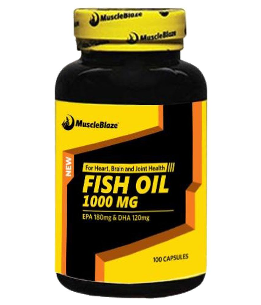 Muscle blaze nutrition fish oil 1000 mg unflavoured buy for Recommended daily dose of fish oil