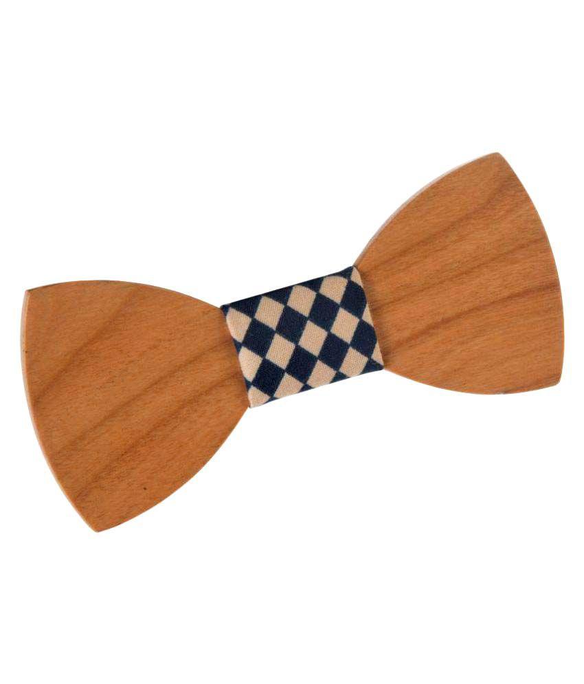 Wood Works Inc Brown Party Necktie