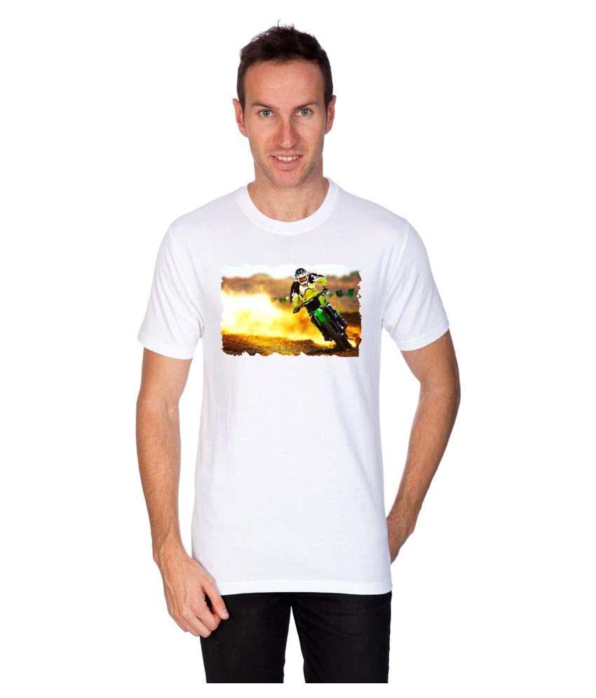 Artist White Round T-Shirt