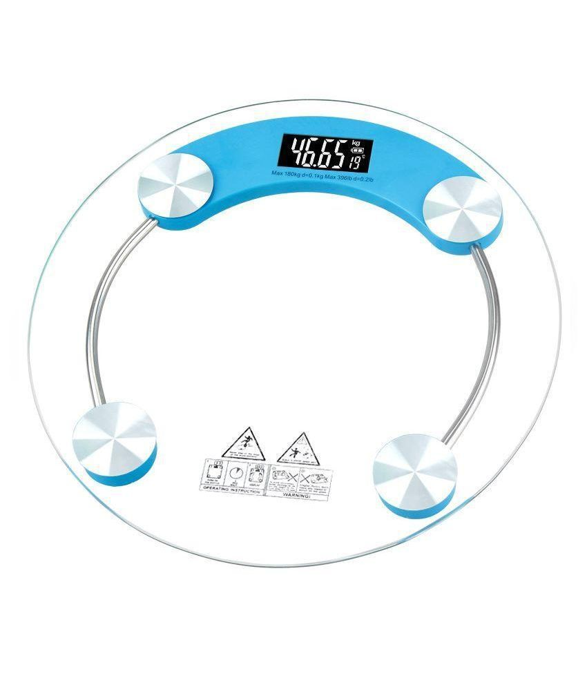 Skyweigh Glass Digital Display Bathroom Weighing Scale - Capacity 180 kg
