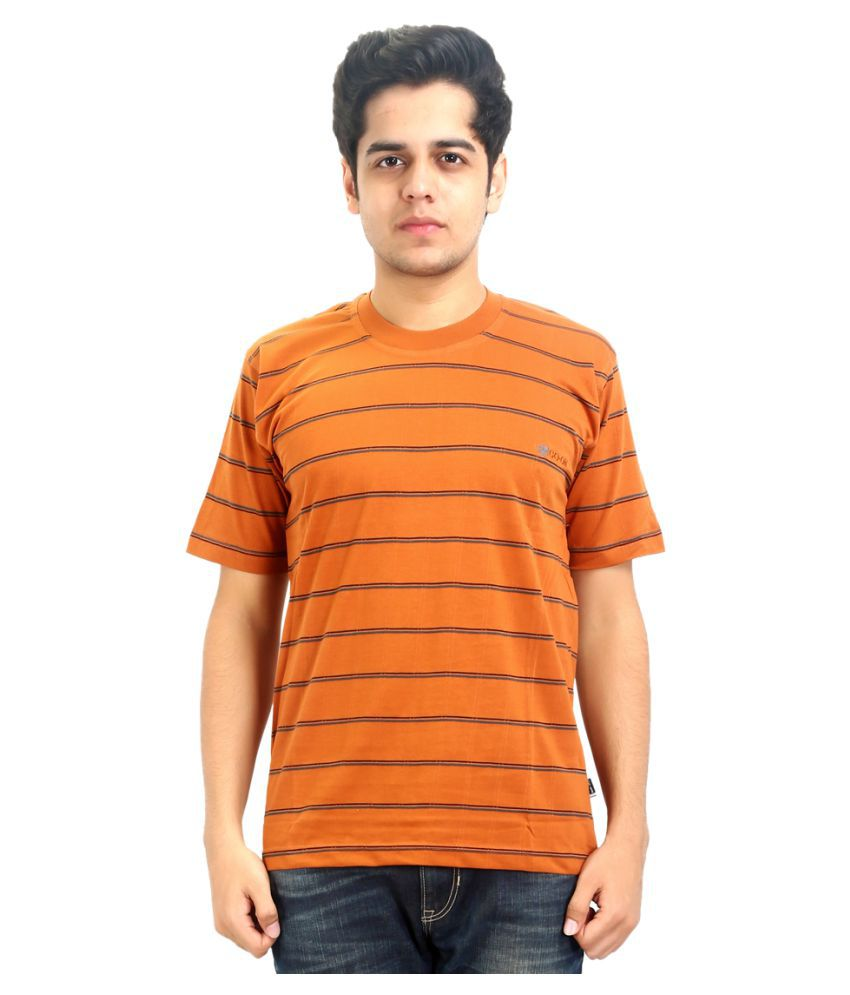 Go-On Orange Round T-Shirt