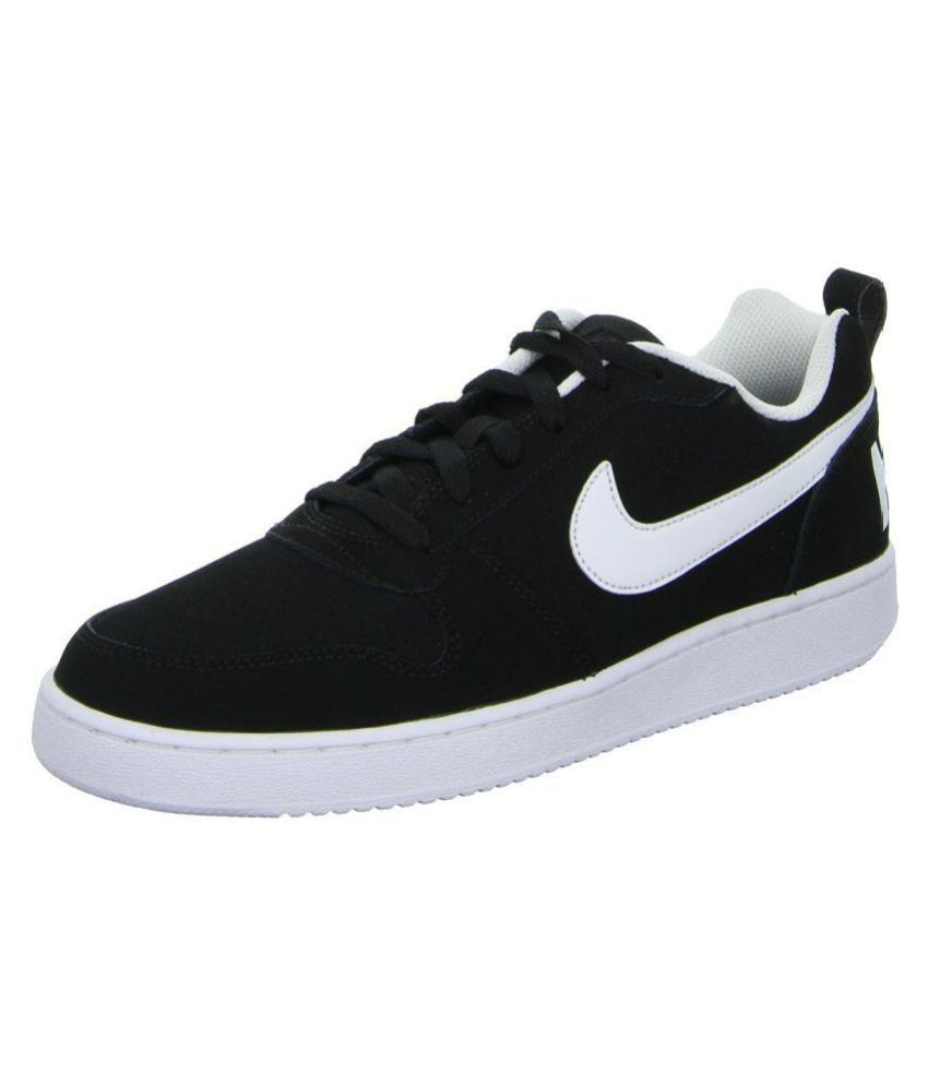 7935e8918cc968 Nike Court Borough Low Sneakers Black Casual Shoes - Buy Nike Court Borough  Low Sneakers Black Casual Shoes Online at Best Prices in India on Snapdeal