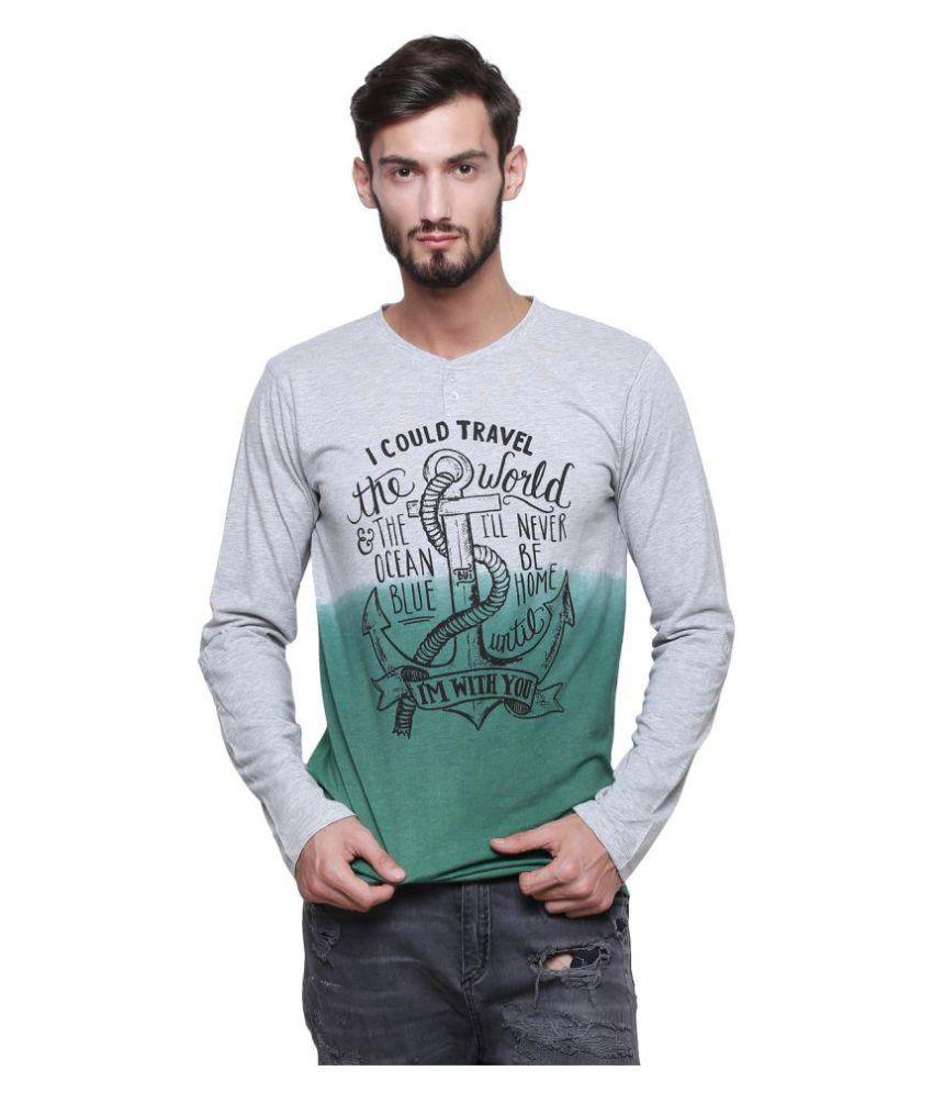 Era Of Attitude Grey V-Neck T-Shirt