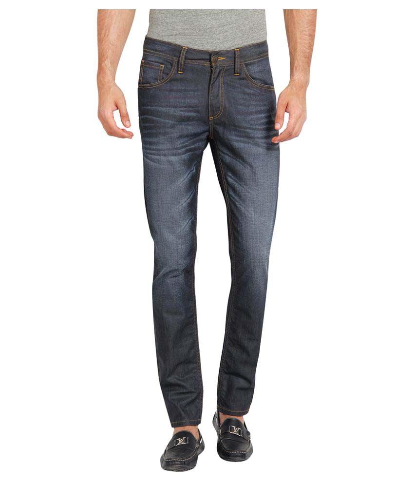 Slub Black Regular Fit Solid
