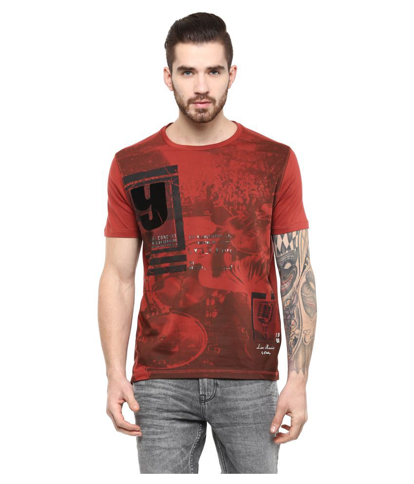 Fritzberg Red Round T-Shirt