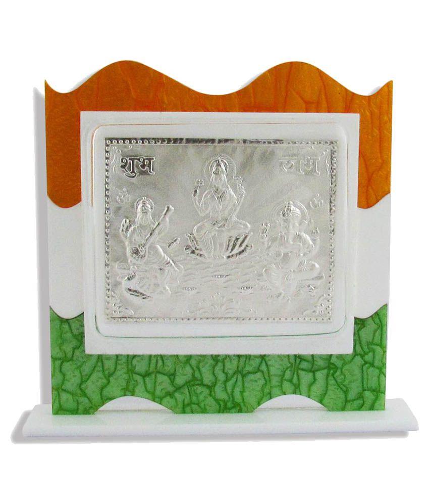 Factorywala Laxmi Ganesh Silver Idol