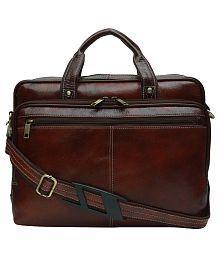 Hammonds Flycatcher Brown Genuine Leather Office Bag