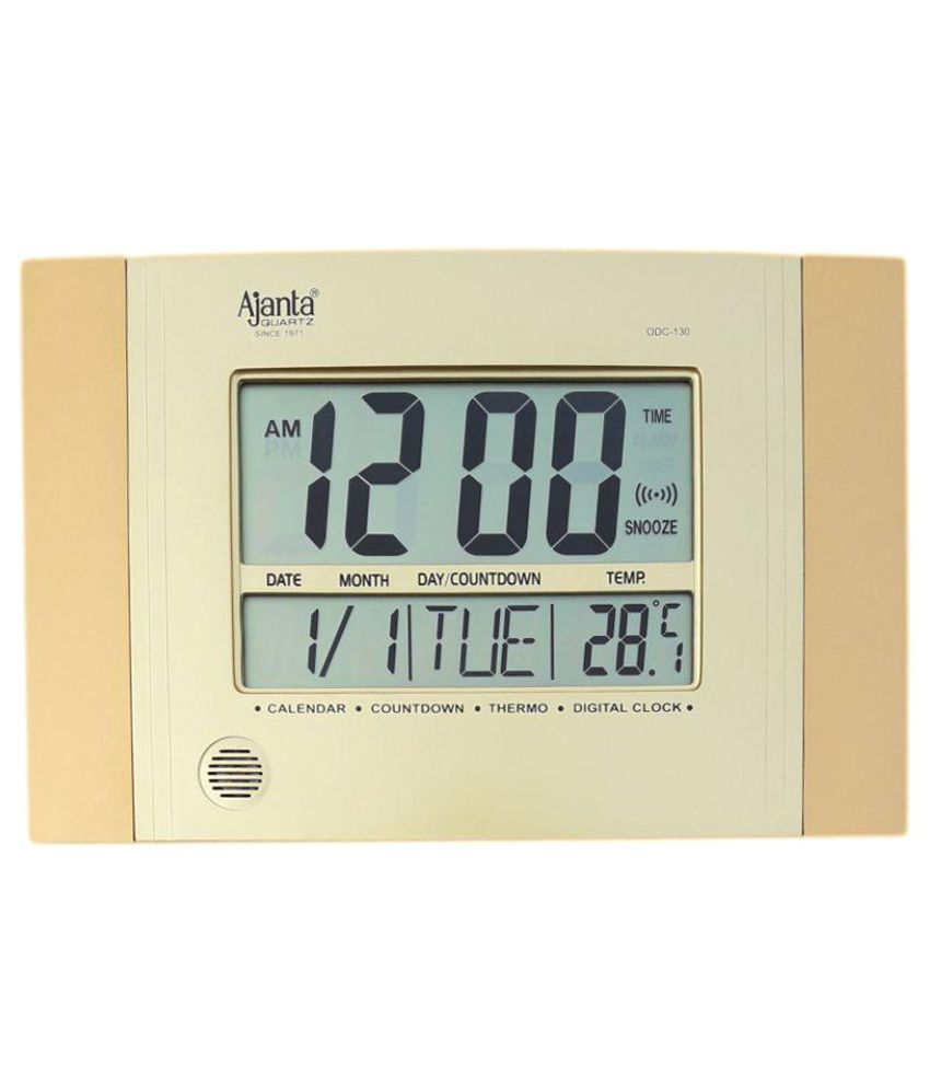 Ajanta Rectangular Digital Wall Clock Sachretails 130 0