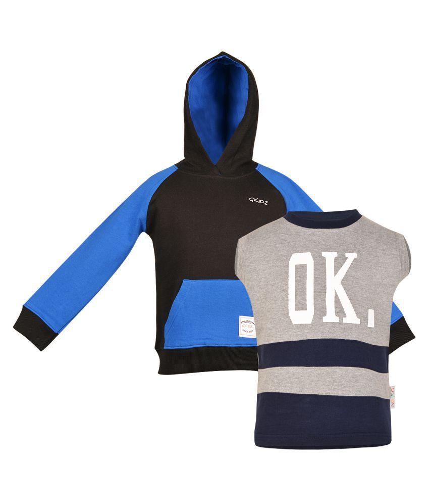 Gkidz Multicolor Fleece Sweatshirt - Pack Of 2