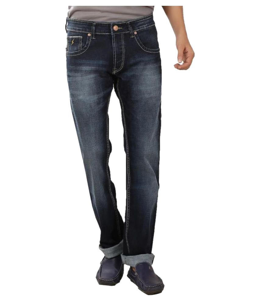Spike Denim Blue Slim Distressed
