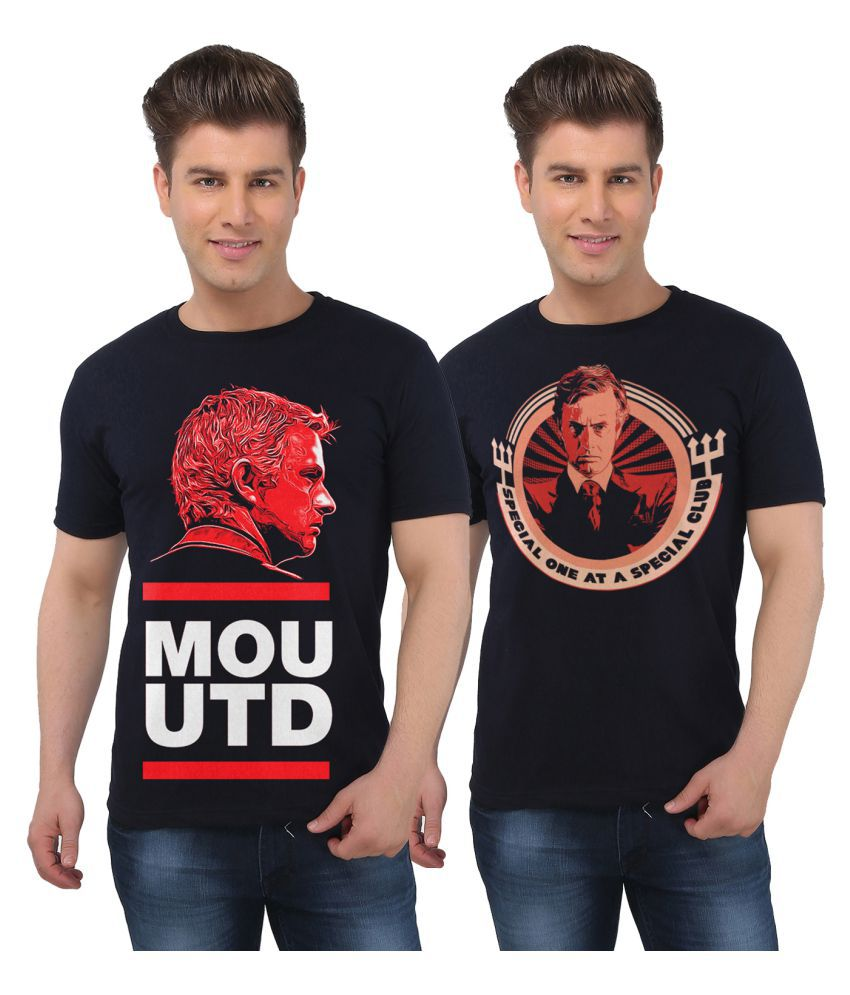 Eetee Black Round T-Shirt Pack of 2