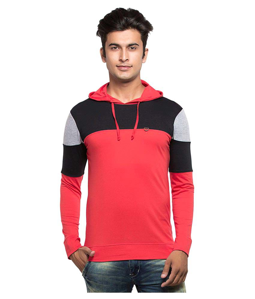 Maniac Red Hooded T-Shirt