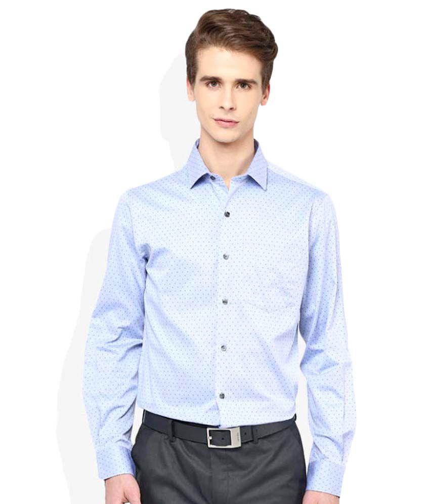 John Players Blue Formal Slim Fit Shirt