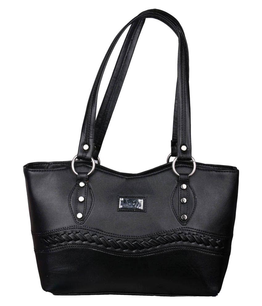 Speed X Fashion Black P.U. Shoulder Bag