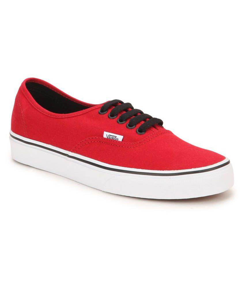 2aeb290457 Vans Red Sneakers Price in India- Buy Vans Red Sneakers Online at Snapdeal