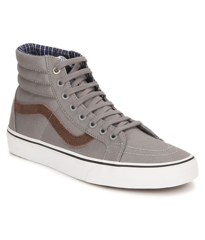 442a2253511 Vans SK8-Hi Reissue Sneakers Gray Casual Shoes - Buy Vans SK8-Hi Reissue  Sneakers Gray Casual Shoes Online at Best Prices in India on Snapdeal