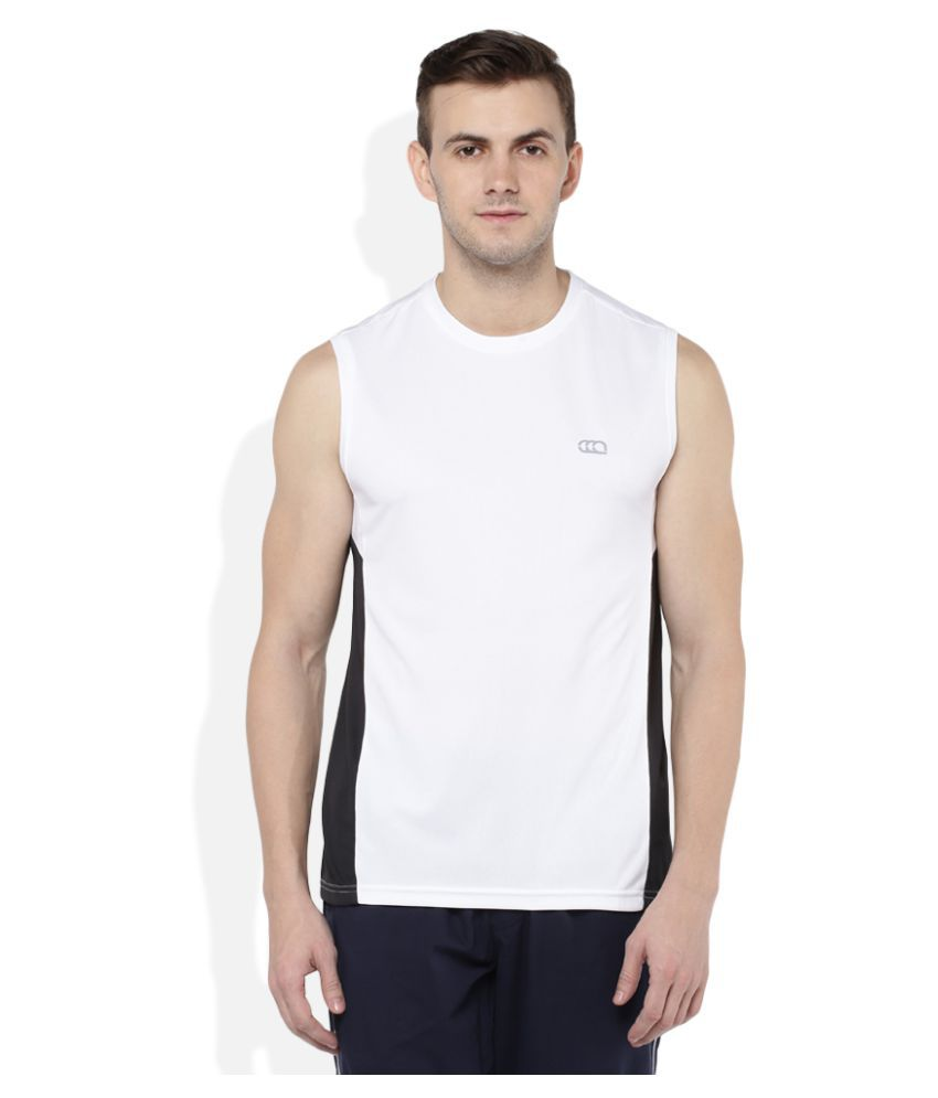 Ajile By Pantaloons White Round T-Shirt