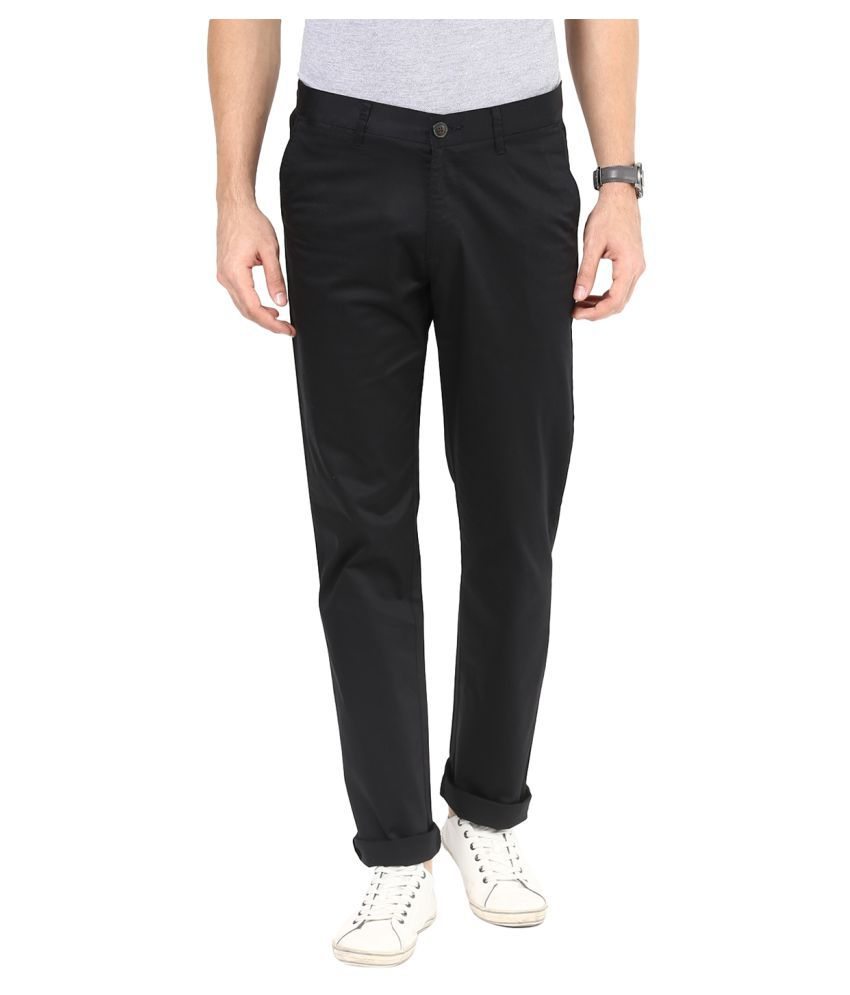Sting Black Slim Flat Trouser