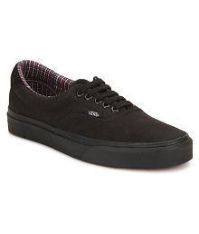 vans loafers black