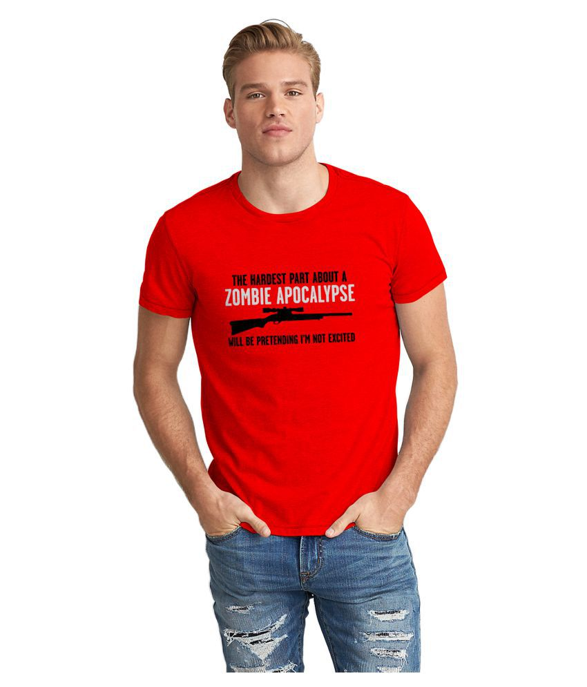 The Fappy Store Red Round T-Shirt