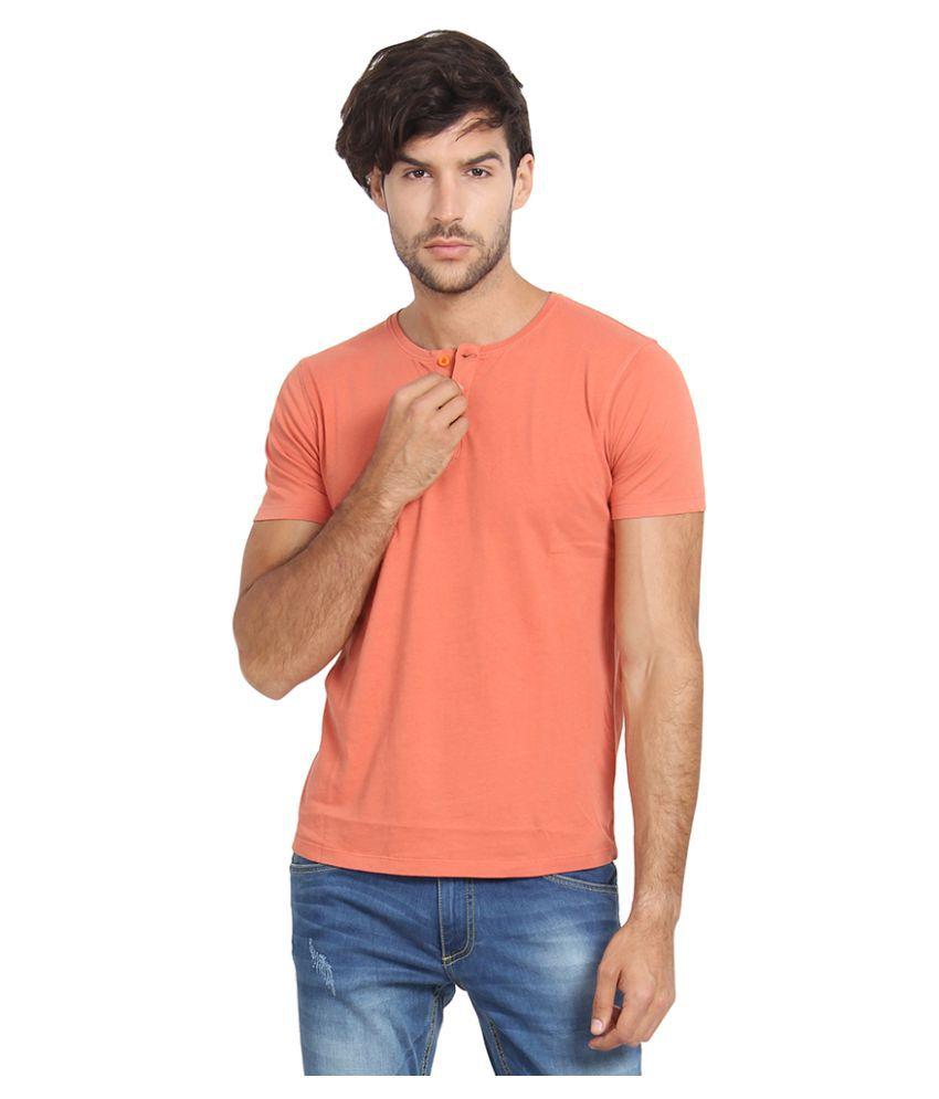 Slub Orange Henley T-Shirt