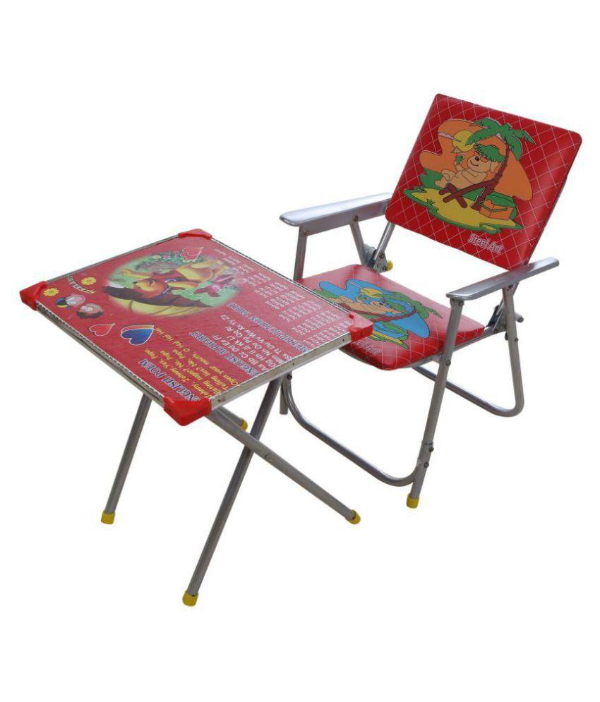 Steel art multipurpose small metal desk chair multicolor Small steel desk