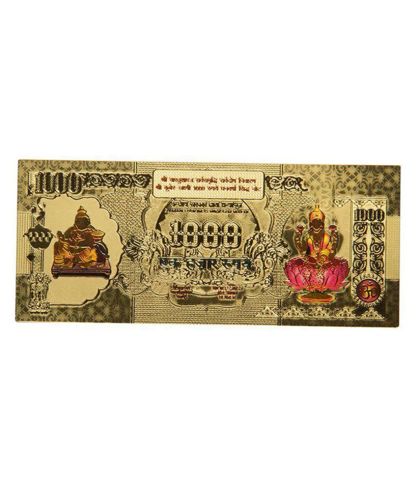 SwissRock Lakshmi Ganesh Saraswati Gold Foil Currency Note  SHOPGENX-2