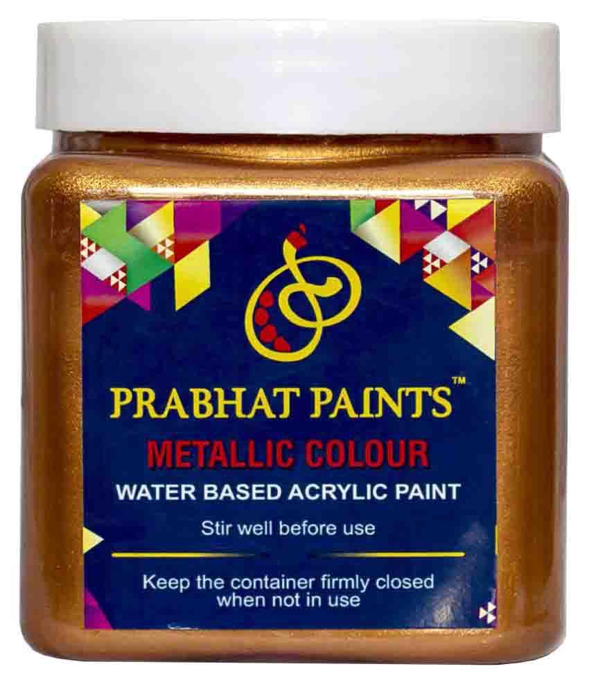 Prabhat Paints Acrylic Metallic Colour / Pearl Colour (500 gm, Sparkle Bronze) (Water based paint)