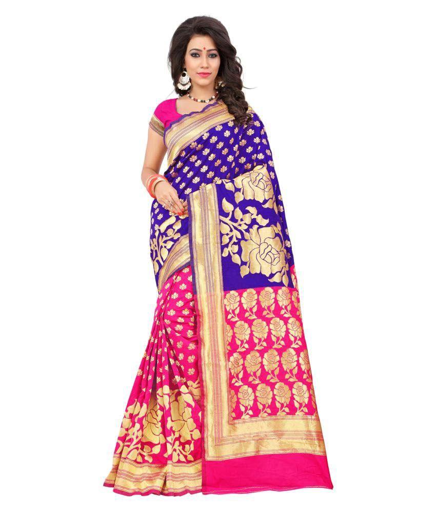 It's Bani Multicoloured Banarasi Silk Saree