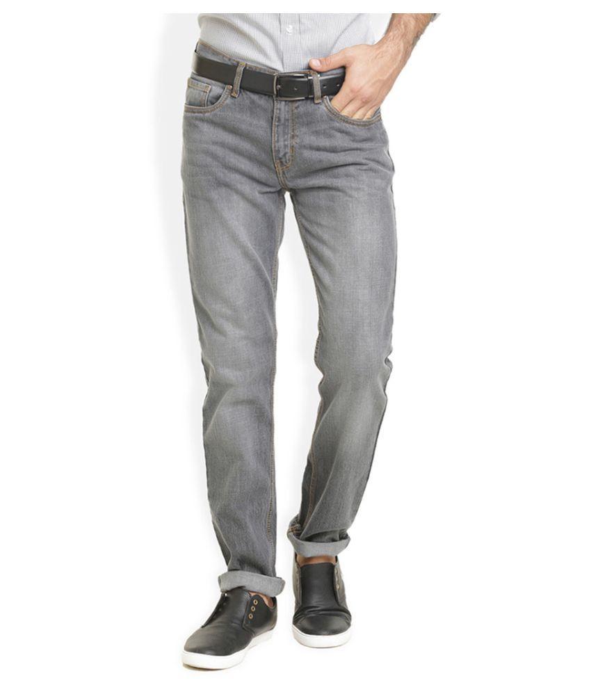 Vudu Grey Regular Fit Solid