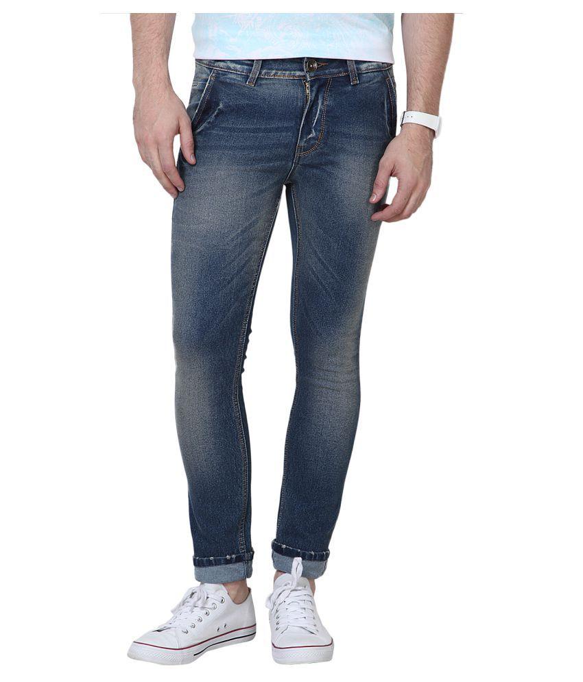 11cent Blue Slim Washed Jeans