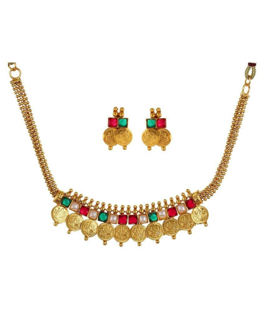 Fabula Multi Color Alloy Necklace & Sets
