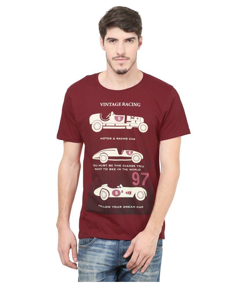 Mode Vetements Red Round T-Shirt