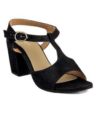 SandHill Black Block Heels