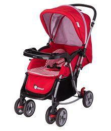 Toyhouse StarKid Elite Baby Stroller Pram with Rocking Function - Red
