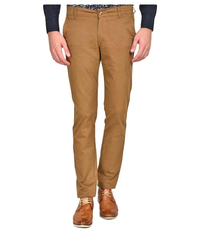 Ruace Khaki Slim Pleated Trouser