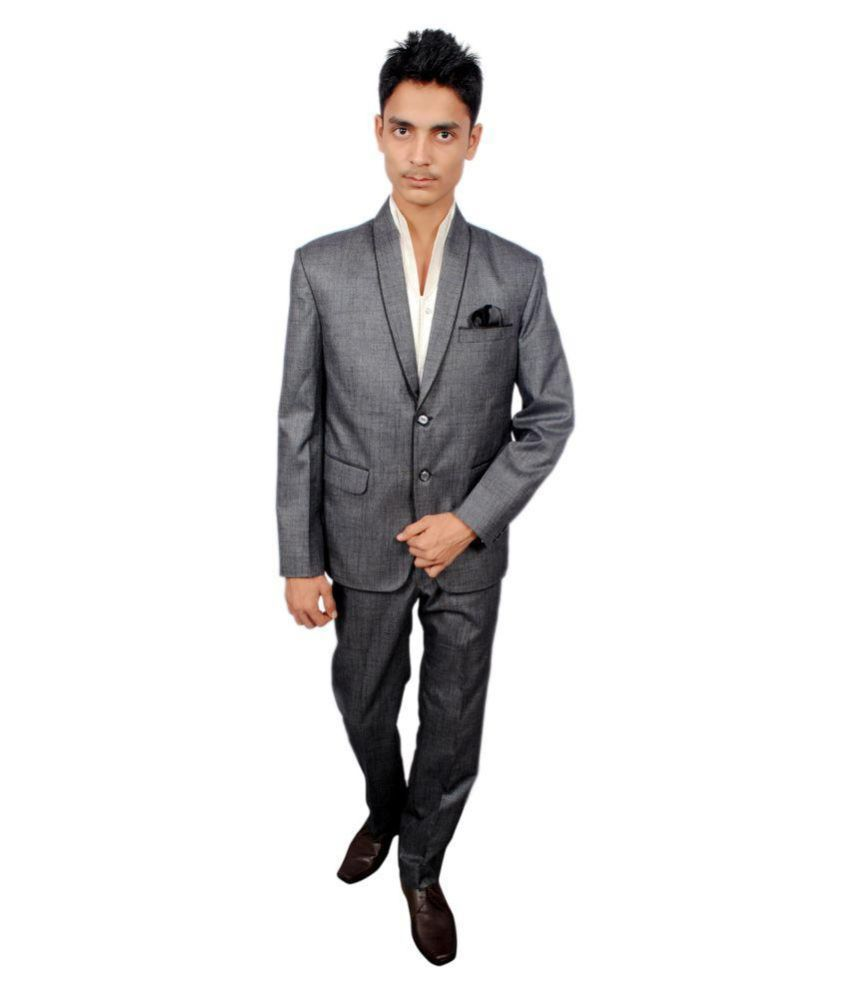 The Mods Grey Solid Party Suit