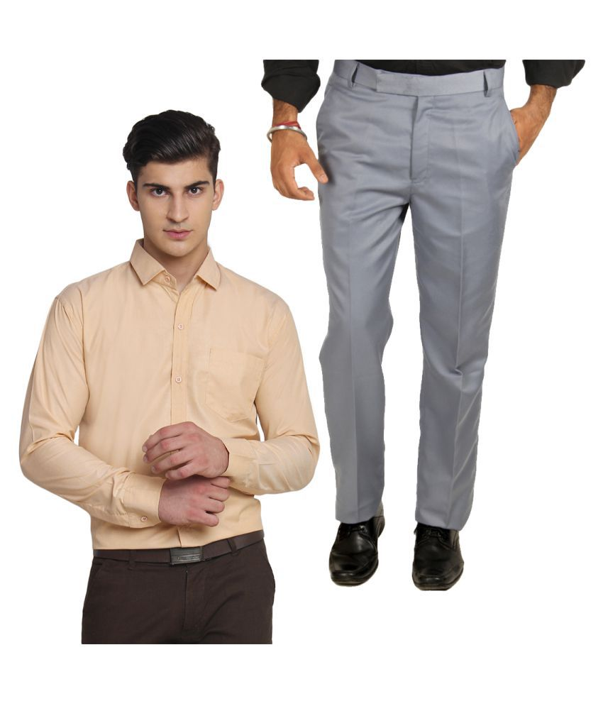 Van Galis Multi Regular Pleated Trouser With Formal Shirts