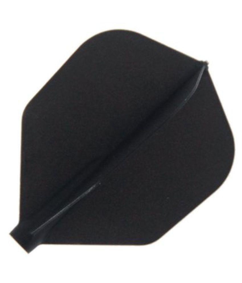 Cosmo Darts 6 Pack Fit Flight - Shape Dart Flight (Black)