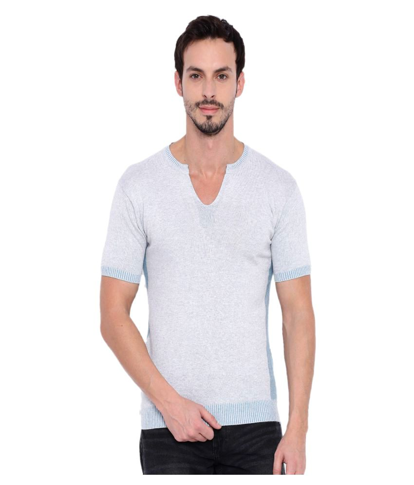 Fifty Two Grey V-Neck T-Shirt