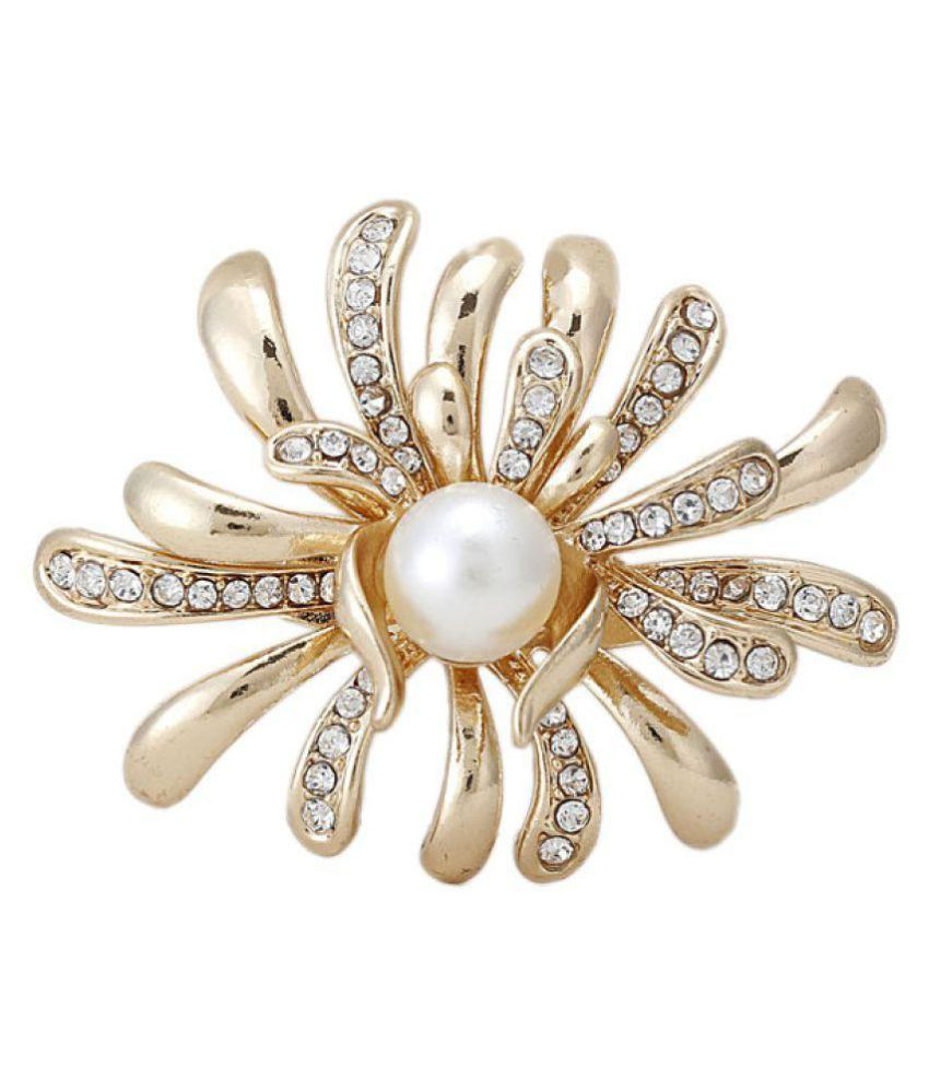 Cilver Fashion New Exquisite Pearl Brooch