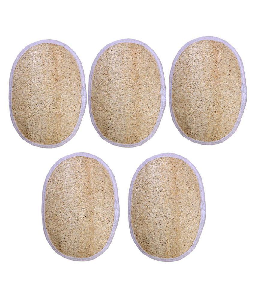 Gold Dust Natural loofah fibers Loofah Pad Yellow 5 fl oz Pack of 5