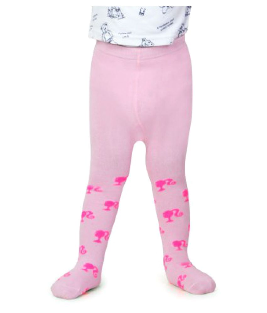 Bonjour Pink Cotton Blend Tights for Kids Girls Buy line at Low