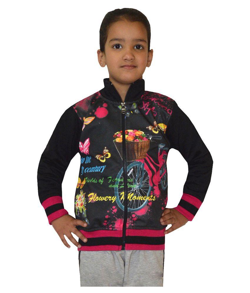 Shaun Black Cotton Sweatshirt