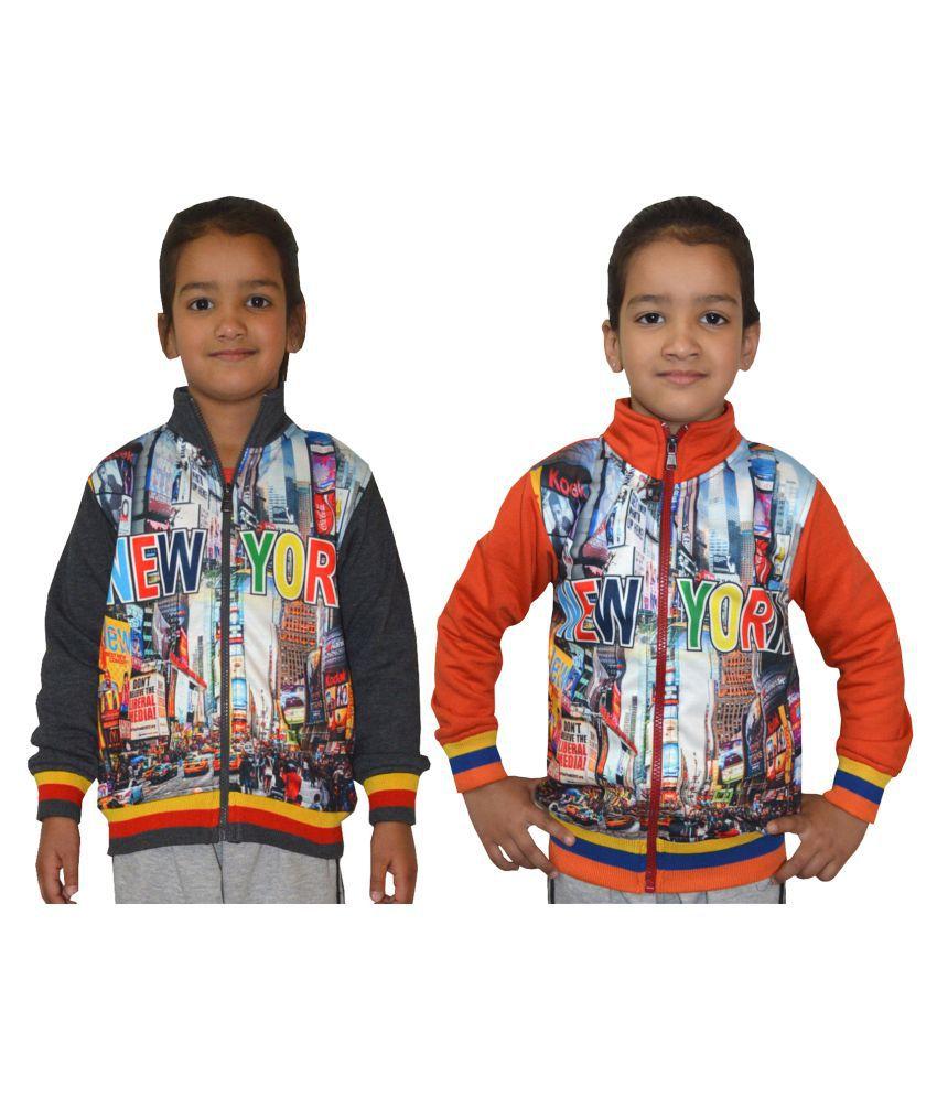 Shaun Multicolour Cotton Blend Sweatshirt - Set of 2